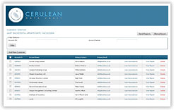 Cerulean DataVault Application Homepage